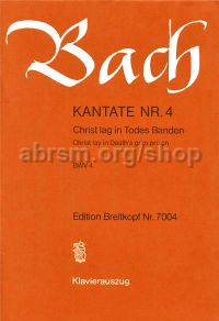 Cantata No. 4 Christ Lag In Todes Banden BWV 4 (Vocal Score)