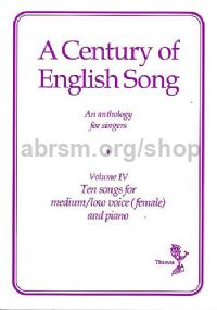 Century Of English Song 4 Med/low