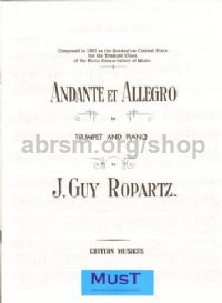 Andante et Allegro for trumpet and piano