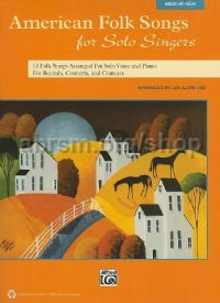 American Folk Songs For Solo Singers - medium/high voice (Book & CD)