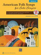 American Folk Songs For Solo Singers - medium/low voice (Bk & CD)