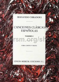 Classical Spanish Songs vol.1/Canciones Clasicas Espanolas vol.1