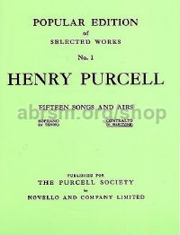 Popular Edition of Selected Works: Fifteen Songs & Airs for Contralto or Baritone, Set 1