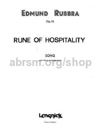 Rune Of Hospitality Op. 15 Voice/Piano