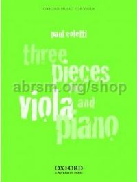 Three Pieces for Viola & Piano