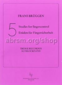 Five Studies for Finger Control for Treble Recorder
