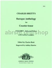 Charles Brett's Baroque Anthology for Counter-tenor Vol. 1 - Italy and France