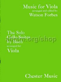 The Solo Cello Suites arranged for Viola
