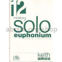 12 Solo Miniatures for Trombone or Euphonium (bass/treble clef)