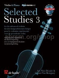 Selected Studies 3 - Violin (Book & 2 CDs)