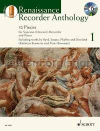 Renaissance Recorder Anthology Vol. 1 - descant recorder and piano (+ CD)