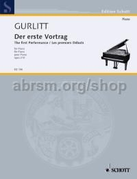 Der erste Vortrag (The First Performance), Op. 210 - piano solo