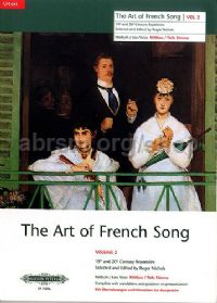 Art of French Songs Vol. 2 (Medium/Low Voice)