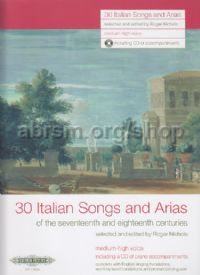 30 Italian Songs and Arias of the 17th & 18th Centuries (Medium-High Voice)