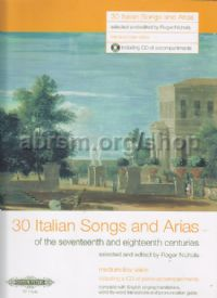 30 Italian Songs and Arias of the 17th & 18th Centuries (Medium-Low Voice)