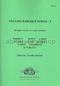 English Baroque Songs - I (High Voice)