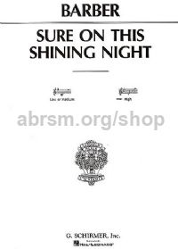 Sure On This Shining Night: High Voice (Bb)