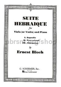 Suite Hébraïque for viola (or violin) & piano
