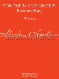 Sondheim For Singers: Baritone/Bass
