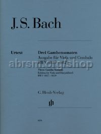 3 Gamba Sonatas, BWV 1027–1029, Edition for Viola