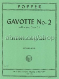 Gavotte No.2 Op. 23 - cello & piano