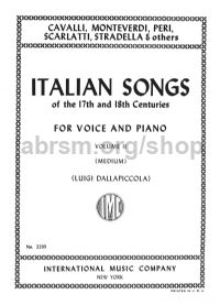 Italian Songs of the 17th and 18th Centuries, Vol. 2 Medium Voice