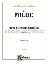Concert Studies (50) Op. 26 Bassoon