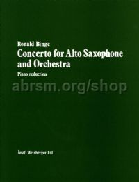 Concerto for Alto Saxophone - alto saxophone & piano reduction