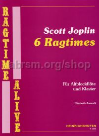Six Ragtimes, arr. Amandi for treble recorder