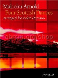 Four Scottish Dances, Op. 59 for violin & piano