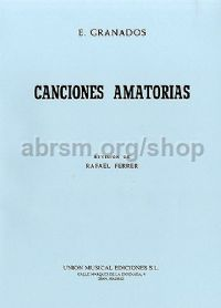 Canciones Amatorias Voice & piano