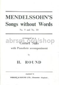 Songs Without Words Nos. 9 and 30 for Bb cornet & piano