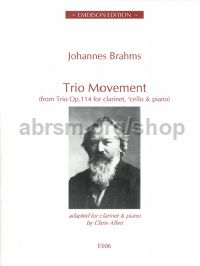 Trio Movement Op. 114 for clarinet & piano