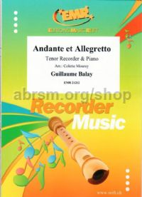 Andante Et Allegretto (Tenor Recorder & Piano)