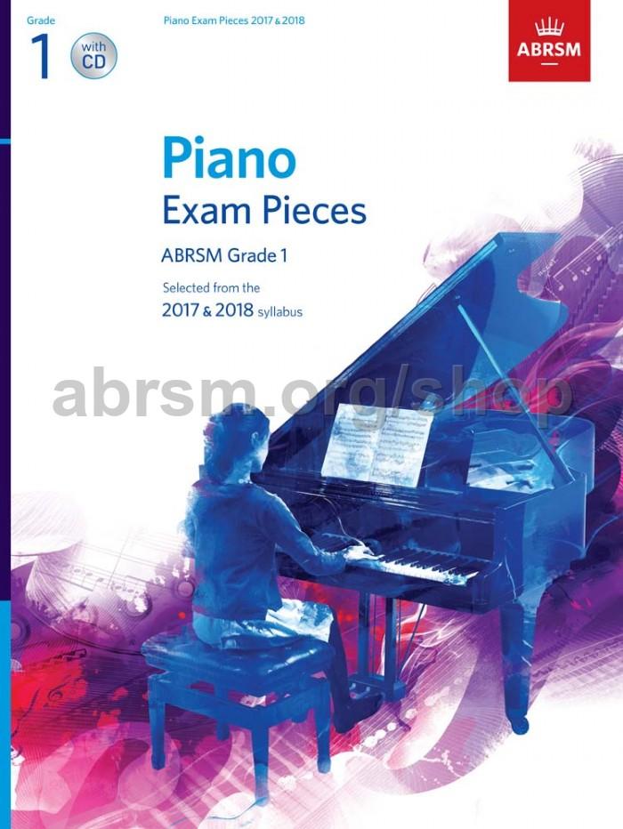 Piano Exam Pieces 2017 & 2018, ABRSM Grade 1, with CD - ABRSM
