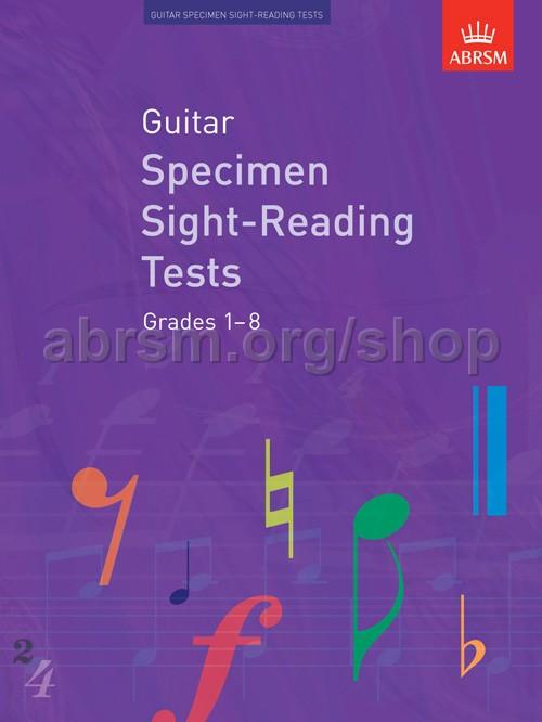 ABRSM - Guitar Specimen Sight-Reading Tests, Grades 1–8