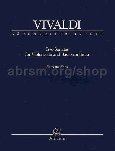 VIVALDI SONATAS 2 RV40 /& RV46 Cello /& Piano