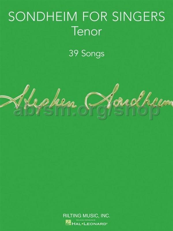 Sondheim For Singers Tenor