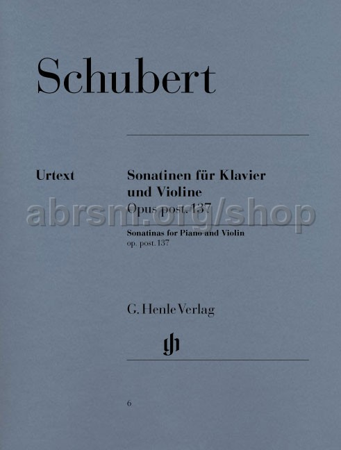 Franz Schubert - Sonatinas for Violin and Piano, Op  post  137