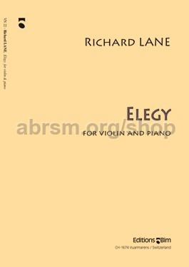 Lane, Richard - Elegy for violin & piano