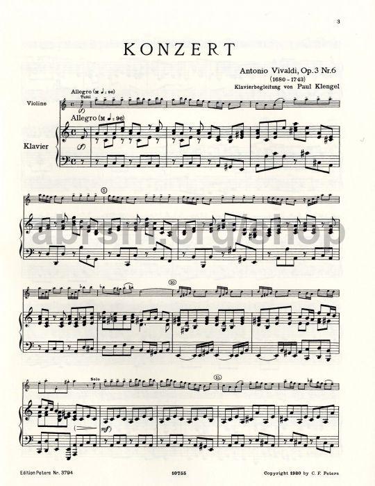 Antonio Vivaldi - Concerto in A minor Op.3 No.6 RV 356