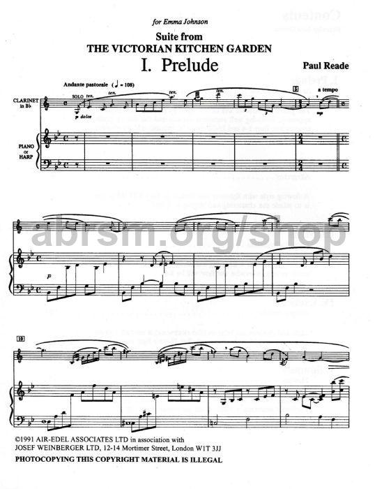 Paul Reade - Suite from The Victorian Kitchen Garden Clarinet